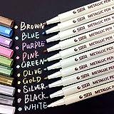 Metallic Marker Pens, Satz von 10 sortierten Farben metallischen Stift Marker für Kartenherstellung...