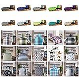 Baumwolle Renforcè Bettwäsche 2-4 teilig in verschiedenen Größen und viele Designs - 2 tlg. Set 1x135x200 + 1x80x80 cm Baumwolle Renforcè Bettwäsche Uni Anthrazit + GRATIS 1x Waschhandschuh von Falco