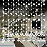Kristallglas Perlen Vorhang Luxus Wohnzimmer Schlafzimmer Fenster Tür Hochzeit Dekor Hansee (E)