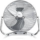 BRANDSON Retro Windmaschine 120W/Ventilator in Chrom (Retro-Design) | Standventilator 50cm |...