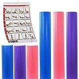 POWRX Yoga-Rolle/Pilates-Rolle/Schaumstoff-Rolle/Foam-Roller/Faszien-Training/Selbstmassagerolle 45...