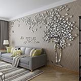 DIY 3D Riesiger Baum Paar Wandtattoos Wandaufkleber Kristall Acryl Malen Wanddeko Wandkunst (L,...