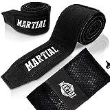 Boxbandagen von MARTIAL mit bestem Klett und Daumenschlaufe. Bandagen ohne Ausleiern für MMA,...