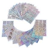 96 Designs Nagel Vinyls Nagel Schablone Sticker Blatt für Nagelkunst Design, 24 Blatt, 288 Stück