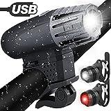 Fahrradlichter Set,Solocil Fahrradlicht USB Aufladbar Fahrradlampe LED Set Frontlicht & Rücklichter...