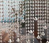 10M Türvorhang Kristall Girland Crystal Clear Acrylic Bead Garland Türvorhang hängende Partei...