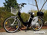 Elektrofahrrad 250W / 36V E-Bike 26' Zoll Pedelec Fahrrad mit Motor Citybike (schwarz)