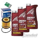 1x Oelwechsel Set 1x 3L Mannol Energy Combi LL 1x Oelfilter1x Mannol Ölwechselanhänger