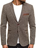 OZONEE Herren Sakko Business Blazer Anzugjacke Kurzmantel EMILLIO SAGEZZA 101 XL/54 BRAUN