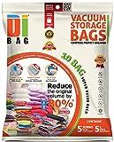 Vakuumbeutel - Vakuum Aufbewahrungsbeutel - 10 Vakuum Kleiderbeutel - Beutelgröße: Jumbo & Groß - Kompressionsbeutel zur Aufbewahrung von Kleidung , Bettdecken , Reise , Bettwäsche , Kissen - DIBAG