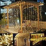 LE Lichterkettenvorhang 306 LEDs, 8 Modi 3m x 3m IP44 wasserfest Sternen LED Lichterketten für...