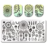 Born Pretty Nail Art Stamping Plate Dream Catcher Feather Arrows Manicure Print Template Image Plate BP-L100