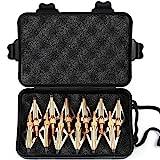 VERY100 12 x golde Pfeilspitzen Jagdspitzen Armbrust Bogen Alu mit 3 Klingen aus 430 Edelstahl (C)