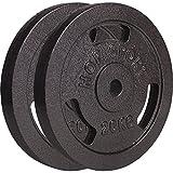 Hop-Sport Hantelscheiben 5kg 10kg 20kg 30kg 40kg Guss Gewichte Hantel Set Gewichtsscheiben 30mm (2 x...