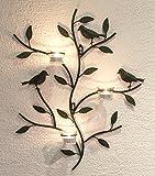 DanDiBo Wandteelichthalter 131002 Teelichthalter Metall 57 cm Wandleuchter Kerzenhalter