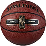 Spalding NBA Gold Basketball Ball, Orange, 6