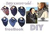 Easy KNOPF Schal free-Book für Loop Schal mit Knopf in 3 Größen für die ganze Familie Nähen Ohne Schnitt mit VIDEO-Nähanleitung [Download]
