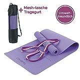 TOMSHOO Gymnastikmatte Basic + Tragegurt - Yogamatte rutschfest - Trainingsmatte TPE - 183 x 61 x...