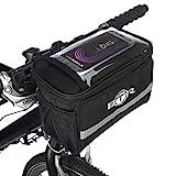 BTR Fahrradlenker-Tasche, mit Karten- und GPS-Halter, mit transparentem PVC-Sichtfenster für Tablet...