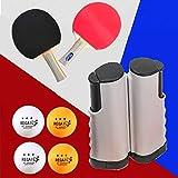 ZHLONG Tischtennis-Set, schwarz, Aufbewahrungstasche, kann im Paket aufbewahrt werden, nimmt nicht...