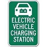 YelenaSign Sicherheitsschild für elektrische Fahrzeug-Ladestation, 20,3 x 30,5 cm