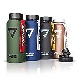 ABOVE. Trinkflasche Edelstahl 950ML I 2 Trinkverschlüsse I Thermosflasche Doppelwandig I BPA Frei I...