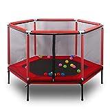 Pc-Hxl Kinderheim-Trampolin Eltern-Kind-Trampolin für interaktives Spiel Fitness-Trampolin mit...