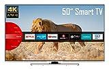 JVC LT-50VU8055 50 Zoll Fernseher (4K Ultra HD, HDR, Triple Tuner, Smart TV, Bluetooth, Works with Alexa) [Modelljahr 2021]