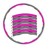 Libertepe Reifen Hula Hoop für Kinder und Erwachsener, 1 Kg Level 1 gewichteter Reifen, 8...