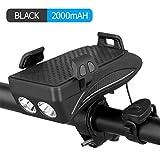 COMLZD Fahrrad-Scheinwerfer, 4-in-1, wiederaufladbar, über USB aufladbar, Fahrradlampe mit Hupe &...