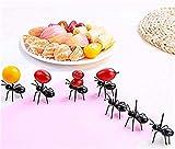 Unbekannt LOSOUL 12 Stück Obstgabeln Wiederverwendbare Ameisen- Obstgabeln Geschirr...