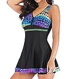 LHWY Bikini Damen Push Up Frauen Plus Size Gradient Tankini Badeanzug Sommerkleid Sport Vintage...