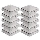 10 x Pfostenkappe für Zaunpfosten (90x90 mm)   Verzinktem Stahl   Pyramiden Form   Abdeckkappe für...