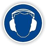 Gehörschutz tragen / Gebotszeichen / GE-04 / Sicherheitszeichen / Piktogramme / DIN EN ISO 7010...