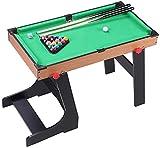 YUHT Junior Billardtisch Kinder mit Billardkugeln Queues Folding Pool Billiardtisch Platzsparend...