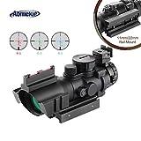 AOMEKIE Zielfernrohr 4x32mm mit Fiberoptic und 11mm/22mm Schiene Airsoft Red Dot Visier Sight...