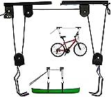 Fahrrad Bike Lift, Fahrradlift 57 KG Traglast, Fahrrad Aufhängung, Fahrrad Deckenhalterung mit 2 Haltegurte, Deckenlift zur Aufbewahrung von Schweren Gegenständen