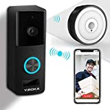 Video Türklingel Mit Kamera, YIROKA Video Doorbell Wifi Funk Gegensprechfunktion Bewegungsmelder...