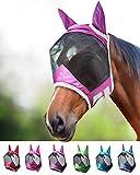 Harrison Howard CareMaster Pro Luminous Fliegenmaske UV-Schutz mit Ohrenschutz Lavendel Lila...