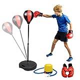 Punchingball Boxen Set mit Boxhandschuhen & Pumpe für Kinder Jugend höhenverstellbar von 80 bis...