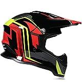 Motocross Helm, Schutzbrille + Handschuhe + Knieschützer Profi Rallye Motorrad Helm Abnehmbarer Und Waschbarer Erwachsenenhelm Set A4