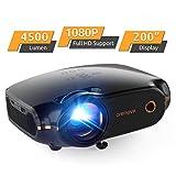 Mini Beamer Full HD Video Projektor, Crenova Portable Beamer mit 200' Bildgröße unterstützt...
