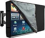 Sinrextraonry Outdoor-TV-Abdeckung mit transparenter Vorderseite, wetterfester Schutz, passend für die meisten Halterungen für 91,4-96,5 cm Fernseher