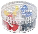 KNIPEX Sortimentsboxen mit Twin-Aderendhülsen 97 99 909, Grau, Rot, Blau, Gelb