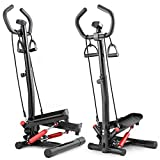 Hop-Sport Swing Side Stepper HS-055S mit verstellbarem Haltegriff Trainingsbändern Computer...