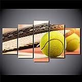 QYY 5 leinwand gemälde HD Wohnzimmer Moderne Bilder 5 Panel Sport Tennis Malerei Wandkunst Modulare...