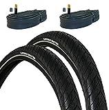 VDP 2X Fahrradreifen Michelin Protek Ref 26x1.85 (47-559) Drahtreifen Fahrradmantel + 2 Schläuche...