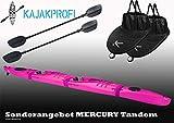 Point65 Mercury Tandem GTX Zweier Kajak mit Paddeln und Spritzdecken Moduk Kajak, Farbe:Lila,...