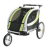 Tiggo Kinderfahrradanhänger Fahrradanhänger Jogger 2in1 Anhänger Kinderanhänger JBT03N-D02...