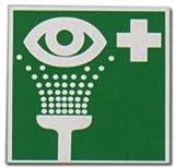 Rettungszeichen Grün - Augenspüleinrichtung - Auge Spülen Schild Warnschild Warnzeichen...
